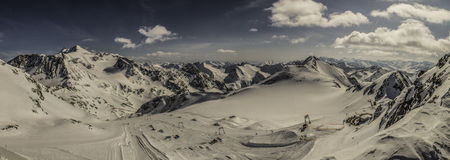 Sky ride on the Stubai Glacier Stock Image