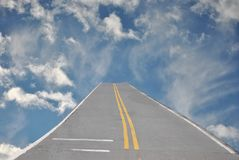 Sky with road Royalty Free Stock Images