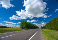 Sky and road Royalty Free Stock Photo