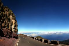 Sky road, Canary Island Royalty Free Stock Images