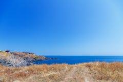 Sky rock sea shore Royalty Free Stock Image