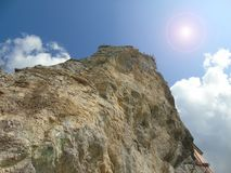 Sky and rock. In the ligurian cost Royalty Free Stock Photos