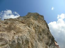 Sky and rock. In the ligurian cost Stock Image