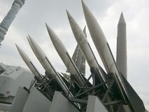 Missiles In Seoul, South Korea Royalty Free Stock Images