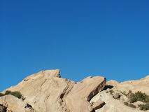 Sky Rocks. Vasquez Rocks formation against Blue Sky royalty free stock images