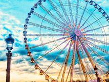 Ferris Wheel at the Place de la Concorde in Paris, France. royalty free stock images