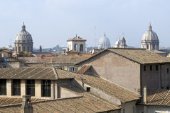 Sky of Rome, from above Stock Images