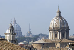 Sky of Rome, from above Royalty Free Stock Images