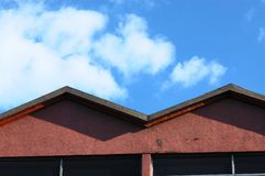 Sky and roof Stock Photos