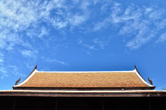 Sky roof. Thai style roof. Redevelopment favorite and conserve Royalty Free Stock Photo