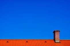 Sky and roof Royalty Free Stock Photo