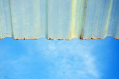 Sky with roof Royalty Free Stock Photography