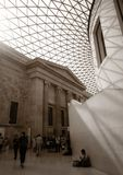 Sky roof at British museum. The art of sky roof at British museum, London England Stock Image