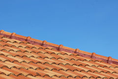 Sky and roof at home Royalty Free Stock Photo