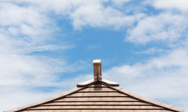 Sky on the roof. At after noon time Stock Photo