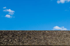 Sky roof of wooden Royalty Free Stock Images