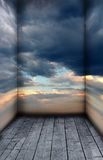 The Sky Room. A premade background for artists to use in their artwork Royalty Free Stock Images