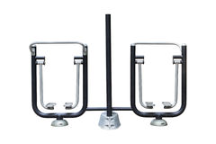 The Sky Runner. Outdoor exercise equipment at public park isolat Stock Photo
