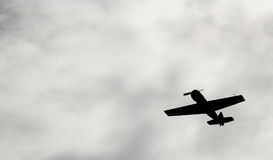 In the sky Russian Soviet military aircraft fighter, attack aircraft of the second world war. Stock Image