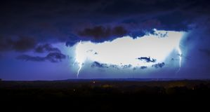 The sky`s anger strikes down. Royalty Free Stock Photography