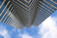 Sky's the limit. Tall city building, upward view Stock Photography