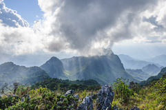 The Sky`s overcast at Doi Luang Chiang Dao mountain, Chiang Mai province, Thailand Stock Photo