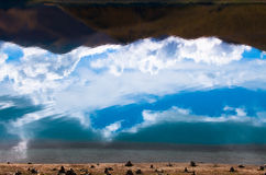 Sky's reflection of Yamzho Yumco Royalty Free Stock Images