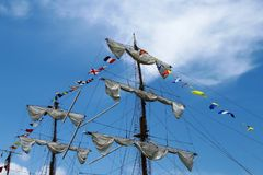 Sky, Sailing Ship, Mast, Tall Ship stock image