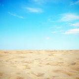 Sky and sand Royalty Free Stock Photography