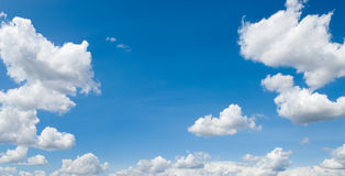 Sky scape. Fine weather, blue sky panorama with white clouds Royalty Free Stock Image