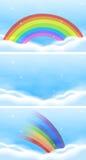 Sky scene with beautiful rainbow Royalty Free Stock Image