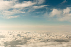 Sky scenery with different types of clouds Royalty Free Stock Images