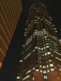 Sky Scraper At Night Royalty Free Stock Photography