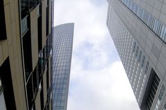 Sky scrapers in Frankfurt Stock Image