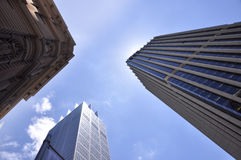 Sky Scrapers low angle view Royalty Free Stock Photography