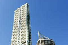 Sky scrapper in clear sky. Sky scrapper in clear blue summer sky Royalty Free Stock Photo