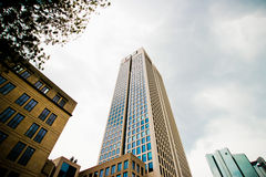 Sky scrapper at Frankfurt. Germany against the sky Royalty Free Stock Photo