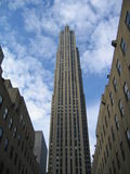 Sky Scrapper. Mid Day Photo of a Building in Downtown Manhattan NY,NY Royalty Free Stock Photography