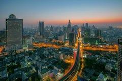 Sky scrapper scene of bangkok thailand capital before the dawn. Sky scrapper scene   of bangkok thailand capital before the dawn Stock Photo