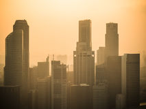 Sky scrappers in Singapore Royalty Free Stock Photography
