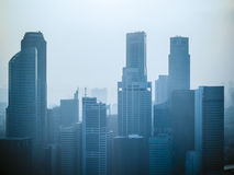 Sky scrappers in Singapore Stock Photo