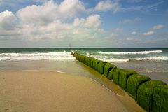 Sky and sea. Coastline on the German island sylt Royalty Free Stock Images