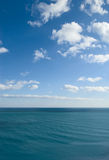 Sky and sea. View of sea and clouds in the sky Royalty Free Stock Photos