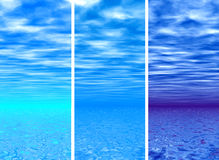 Sky & sea. Sky & sea - backgrounds Stock Image