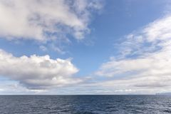Sky and sea at Andenes in Lofoten in Norway Royalty Free Stock Photos