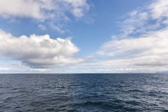 Sky and sea at Andenes in Lofoten in Norway Royalty Free Stock Images