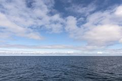 Sky and sea at Andenes in Lofoten in Norway Stock Images
