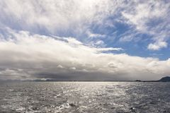 Sky and sea at Andenes in Lofoten in Norway Stock Photography