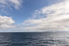 Sky and sea at Andenes in Lofoten in Norway Stock Photo