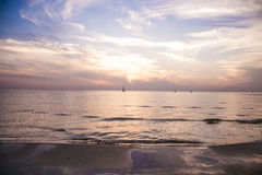 Sky and sea. Beautiful sunset at the sea Royalty Free Stock Photography